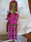 NEW COACH  SOLD OUT PINK STAR SIGNATURE EXTRA LARGE  DOG COLLAR XL 61354
