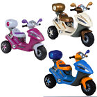 CHILDRENS BATTERY POWERED 6 VOLT MOTORBIKE 3 WHEELED TRIKE SCOOTER RIDE ON BIKE