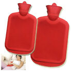 HOT WATER BOTTLE ADULT CHILDREN SNUGGLE COZY WINTER SAFE RIBBED RUBBER