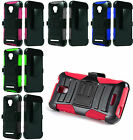 For Alcatel OneTouch Elevate Robotic Holster Belt Clip Stand Hybrid Cover Case