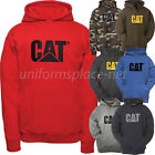 Caterpillar Sweatshirt Mens CAT Logo Tradmark Hooded Pullover Fleece Jacket