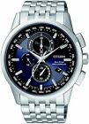 Citizen Eco-Drive Global Radio Controlled Chrono Sapphire Mens Watch AT8110-61L