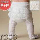 Baby Girls Cream White Wedding Christening Bridesmaid Flower Girl Tights 0 - 24m
