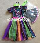 Halloween Girls Neon Witch Fancy Dress Hat Dressing up Costume Various size NEW