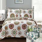Elegant and Contemporary Printed Julia Reversible Oversize Coverlet Quilted Set image