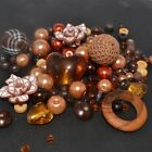 Mixed Bead - Bead Soup - Brown & Copper - Glass, Lucite, Acrylic, Polymer