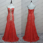 Sexy Beading Prom Dresses Sweetheart Chiffon Party Evening Pageant Gowns Custom