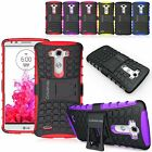 For LG G3 Armor Shockproof Rugged Hybrid Impact Hard Soft Case Kickstand Cover