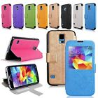 For Samsung Galaxy S5 Magnetic Flip Stand PU Leather Case Window View Slim Cover
