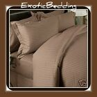 1500 Thread Count 4-Piece Egyptian Cotton Sheet Set - Taupe Stripe