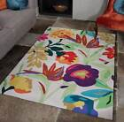 Carnival Bird Of Paradise Modern Rugs In Cream & Multi Colour 2 Sizes Available