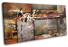 Natural Paint Art Collage  Abstract CANVAS WALL ART Picture Print VA