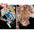 Chic Womens Vintage Floral Lapel Chiffon Long Sleeve Casual Blouse T-Shirts Top