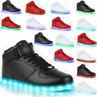 Blinkende Herren Sneakers High Led Light Farbwechsel Schuhe 78314 LED Trendy
