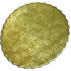 Dessert Buffet Board, Embossed, Round Scalloped Gold - Pack of 25