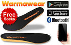 Heated Insoles Battery Powered Waterproof Rechargeable - Bluetooth Controlled