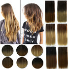 "Hottest Balayage 24""One Piece Clip In Colored Ombre Hair Extensions Brown Blonde"