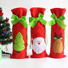 Christmas Wine Bottle Cover Set Santa Clothes Gift Bag Xmas Table Decoration