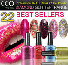 NEW CCO DIAMOND GLITTER PROFESSIONAL UV LED NAIL GEL SOAK OFF POLISH COLOURS