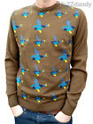 Flying Ducks BROWN JUMPER vtg indie retro kitsch hunting country NEW 70's 80's