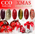 NEW CCO NAIL GEL XMAS COLOURS RUBY RITZ GLITTER TINSEL UV/LED SOAK OFF TOP BASE