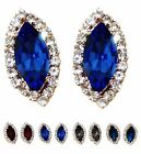 Swarovski Charming Elegant Marquise Crystal 18K Gold Plated Pin Stud Earrings