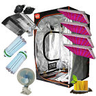 LED Grow Light Hydroponics Grow Tent CFL 6400K 2700K lamps Shade Reflector Kit