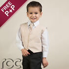 Boys Champagne Gold 4pc Wedding Suit Pageboy Formal Party 0-3 Months - 8 Years