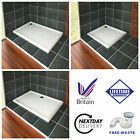 40mm Square or Rectangle Slimline Stone Tray for Shower Enclosure Bathroom Glass