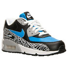 Nike 724879-400:Air Max 90 Premium Leather Blue/Black Running Unisex Youth Size