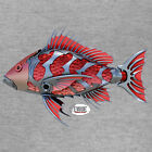 RED SNAPPER Fishing T-shirt Long Sleeve Saltwater Angler by Evade Outdoor Armor