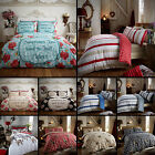 100% Brushed Cotton Flannelette Reversible Duvet Quilt Cover Bedding Winter Snow