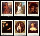 709/10 ROMANIA 1969 ART FINE PAINTINGS REMBRANDT SET x 6 STAMPS + S/S MNH