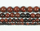 Gorgeous 8mm/10mm Mahogany Obsidian Gemstone Round Ball Loose Beads 15.5""
