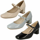 Clarks Ladies Mary Jane Shoes 'Chinaberry Pop'
