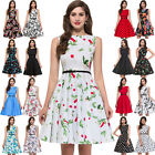 Retro Vintage Style 50s 60s ROCKABILLY Pinup Housewife Swing Evening Prom Dress