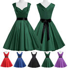 Vintage Retro Swing 50s 60s Housewife Rockabilly Pinup Evening Party Prom dress