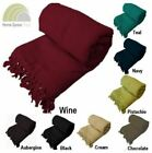 100% Cotton Throw Blankets Throwover Honeycomb 3 Sizes Sofa Living Room Bedroom