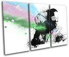 Kanye West Grunge Abstract Musical TREBLE CANVAS WALL ART Picture Print VA