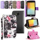 For LG Tribute LS660 Optimus F60 PU Leather Flip Wallet Card Pouch Magnetic Case