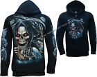New Grim Reaper Glow In The Dark Dragon Skull Axe Zip Zipped Hoodie Hoody Jacket