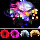 Battery Operated Berry Ball LED Fairy Lights Xmas 4M 40 LEDs: Static ON + Flash