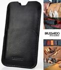 "Brussardo ""Sotille"" Black Custom Handmade Real Leather Case Pouch Apple iPhone 6"