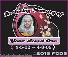 In Memory Of Your Loved One Full Color Decal Easy to Apply Decal
