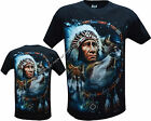 New Wolf Native American Red Indian Biker T- Shirt Front & Back Print M - 3XL