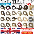 """Best 7A Quality 16""""-22"""" 1g 100% Pre Bonded Nail U Tip Human Hair Extensions UK"""
