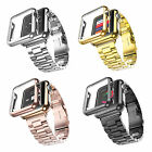 Stainless Steel Strap Band+Adaptor Protect Case Cover for Apple Watch iWatch