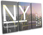 New York NY Typography City TREBLE CANVAS WALL ART Picture Print
