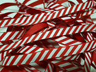 Candy Stripe Grosgrain Ribbon Red by Bertie's Bows 9mm Christmas BTB129