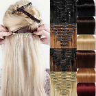 Deluxe Double Wefted Clip In Hair Extensions Full Head & One piece Red Black